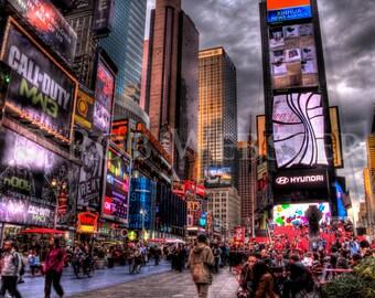Times Square,  New York City,  num 2, 8x10 HDR Fine Art Photo Print