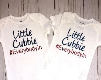 Chicago Cubs Baby Onesie