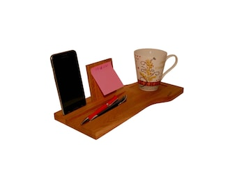 Wooden desk organizer, holder