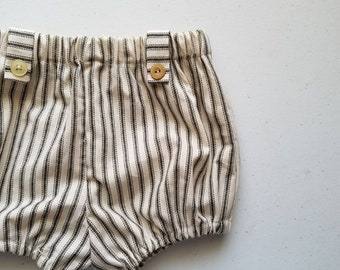 Stripe Cotton Infant and Toddler Bloomers, Handmade by Papoose Clothing