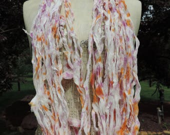 Buy 3 Get 1 Free Pure Silk Chiffon Ribbon Tie Dyed  60 To 70 Yards Very Soft Soft And Vibrant