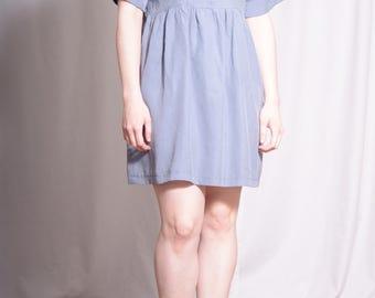 Alice Dress / Free Shipping /Grey Babydoll Dress / Smock dress / lolita smock dress 90s grunge dress / oversize dress / boho dress
