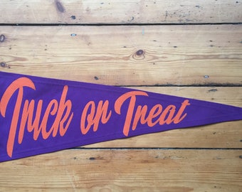 Trick or Treat Pennant Flag