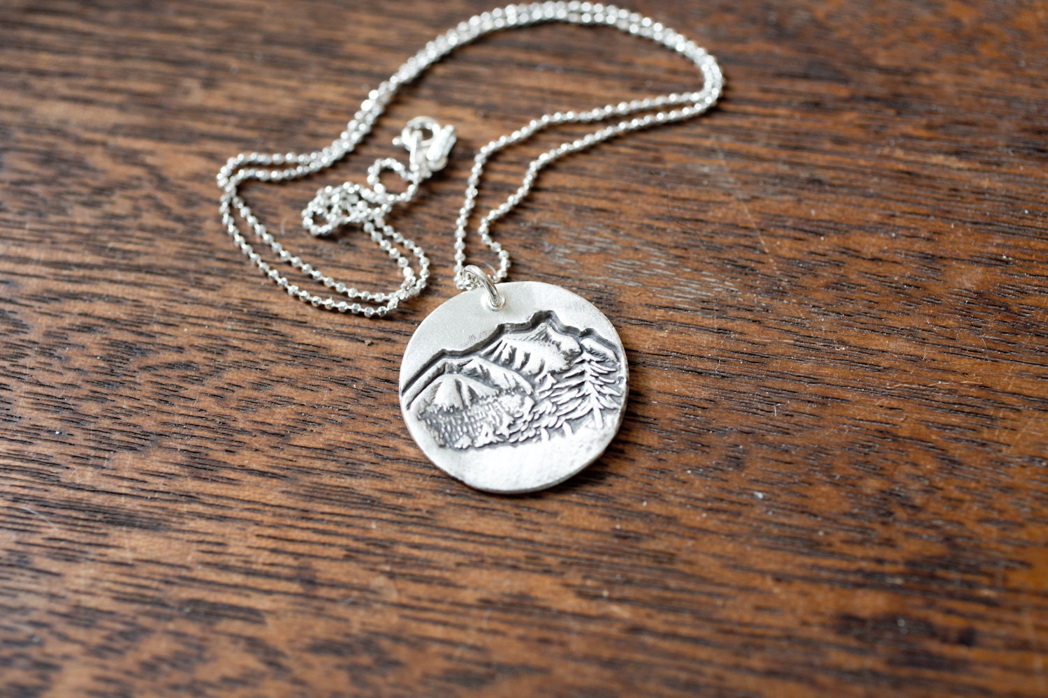 mountain top necklace mountain necklace sterling silver. Black Bedroom Furniture Sets. Home Design Ideas