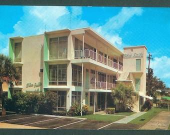 Fort Lauderdale Florida Blue Sails Apartments Viramar Street Photo Postcard (11228)