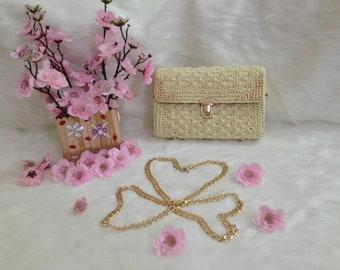 Crocheted bag-Handmade bag-crochet small bag-bag-bag-box bag - MTmini 08