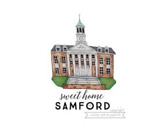 Notecard or Print ~ Sweet Home Samford