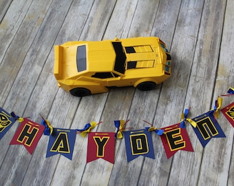 Personalized Transformers Birthday Banner