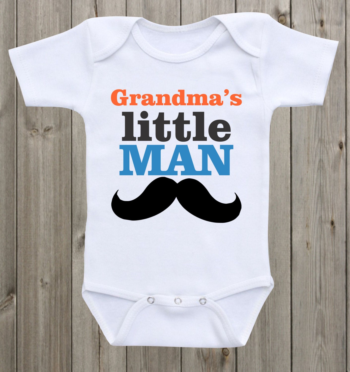 Grandma s Mom s Little Man baby onesie Baby boy onesie