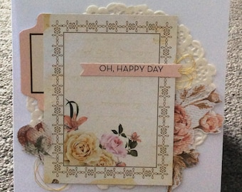 Oh, Happy Day - Handmade Card