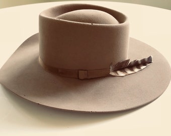 Vintage 1940s / 1950s Stetson Gambler 4X Beaver Cowboy Hat