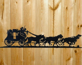 Stagecoach Wall Art - Laser Cut