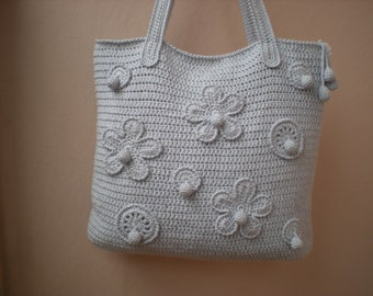 Crochet bag pattern, By Emmhouse, Flower bag crochet pattern, DIY crochet bag, pdf download crochet bag pattern, Easy crochet bag patterns