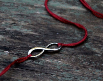 valentine gift red thread bracelet friendship bracelet romantic jewelry wish bracelet infinity jewelry mother daughter gift wishlet for her