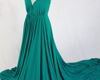 Gorgeous Emerald Green gown, one off, Ready to ship, Discounted Price
