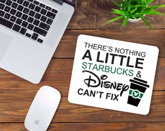 Starbucks and Disney Mouse Pad