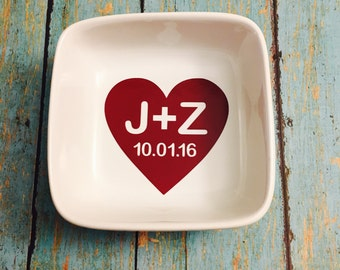 Wedding Dish, Gifts for Her, Custom Jewelry Dish, Ring Dish, Personalized Jewelry Dish