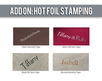 ADD ON: Hot Foil Stamping