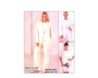 SALE Misses Boxy Jacket Top Pants Shorts McCalls 8093 Sewing Pattern Full Figure Size 16 - 18 - 20 Bust 38 - 40 - 42 UNCUT