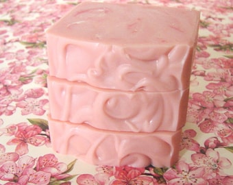 Sukurako. Cherry Blossom and Freesia Scented Handcrafted Artisan Soap