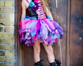 Rockstar Birthday Outfit - Rocker Tutu Costume - Rockstar Tutu Dress - Girls Party Outfit
