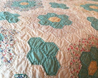 Full sized hand stitched quilt