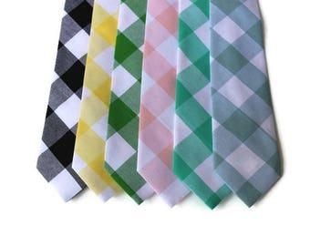 Buffalo Plaid Necktie~Anniversary Gift~Wedding Tie~Boys Necktie~Mens Necktie~Wedding~Mens Tie~Boys Tie~Groomsmen~Groom~Ringbearer~Gingham