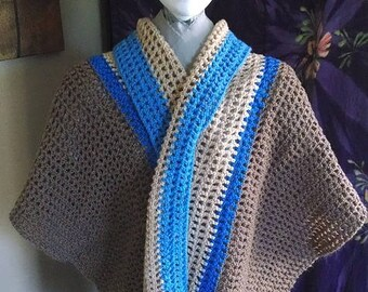 Blue and Browns Mesh Wrap