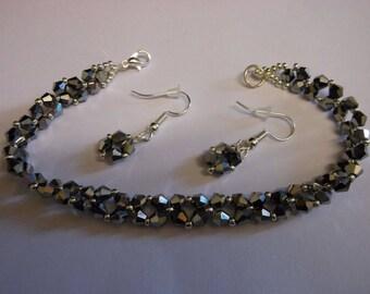 Handmade bracelet and Earring set