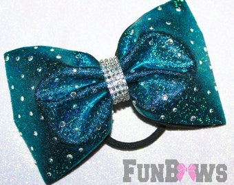 Gorgeous Custom  Rhinestone Allstar cheer bow  by Funbows ! - YOUR COLORS