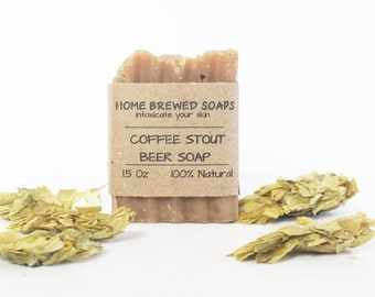 Coffee Stout - Beer Soap - Gifts for Him - Stout Soap - Beer Soap - Coffee Stout Soap - Beer Lover Gifts - Soaps with Beer - Beer Soap