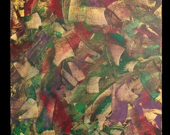 """12x12"""" Palette knife painting, acrylic, canvas"""