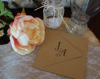 Wedding invitation, invitation for wedding, wedding, kraft cardstock kit card RSVP and envelopes