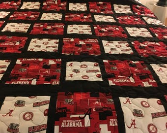 Alabama twin size quilt