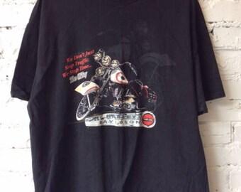 Vintage Harley Davidson T-shirt / Size XL XXL / 90s 1990s / Made in USA / Biker / Motorcycle / Retro