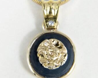 Black onyx rose necklace.