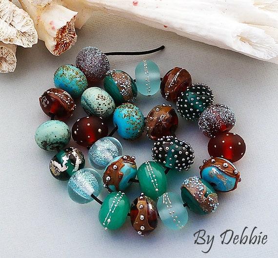 Lampwork Beads Glass Beads Jewelry Supplies Beads For Bracelets Beads For Jewelry Handmade Lampwork Beads Beach Beads Round Debbie Sanders