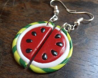 Earrings - watermelon