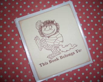 Where the Wild Things Are Bookplates - Set of Six - Stickers - Handmade