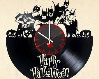 Justice League Superheroes Vinyl Record Wall Clock