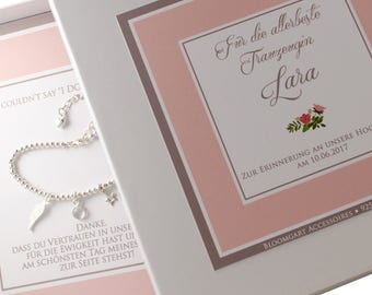 925 Silver pearl bracelet maid of honor with gift box