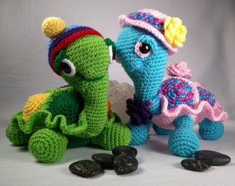 """My Sweet """"Buddy"""" Turtle Crochet PATTERN - Design by kre8ivLizard - instant download"""