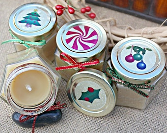 Personalized beeswax candles make the perfect gift or party favor. We will custom-make these to your specifications.