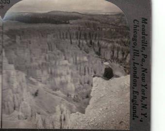 Keystone Vintage Stereoview The silent city Bryce canyon Utah