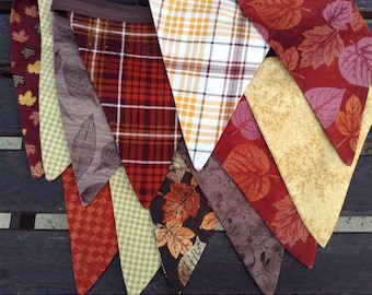 Thanksgiving Banner  /Fall Buntingr / Autumn Photo Prop  in Gold, Brown and Red