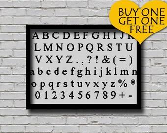 Cross Stitch Pattern New Times Roman Font Decor ABC PDF Pattern Letters E Pattern Alphabet and Numeric Scheme Text Cross Stitch