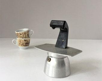 Italian Espresso Maker, Vintage Moka Pot, Two Cup Coffee Maker, Rare Luxa Express, Stovetop Caffetiera, Guido Bergna Pot, Italian Antiques