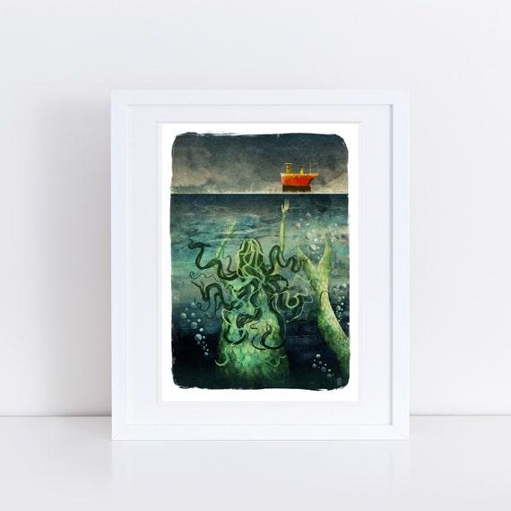 The Mermaid - Signed Print