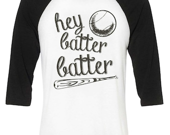 Hey Batter Batter Baseball Mom Shirt Life Raglan Gift For Mom Baseball Shirt Mother's Day
