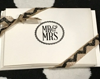 Mr and Mrs notecards